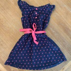 Carter's Navy Pink Anchor Knit Girl Dress 4T